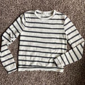 Eye Candy Soft Striped Crew Neck Sweater